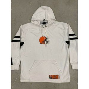 Browns Classic White Hoodie Large Embroidered